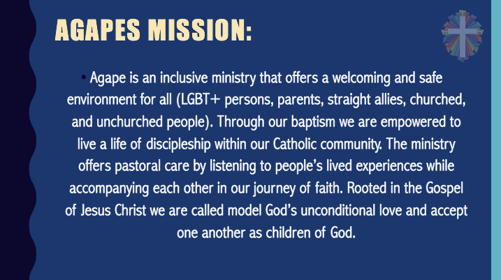 Agape's Mission Statement